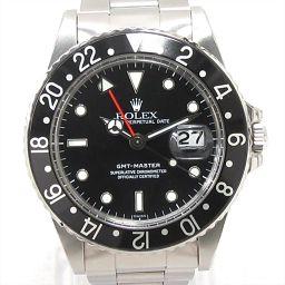 ROLEX Rolex GMT Master Watch Watch 16750 Black Stainless Steel (SS) [Used
