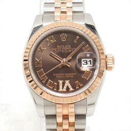 ROLEX ロレックス デイトジャスト 腕時計 ウォッチ 179171 ブラウン ステンレススチール(SS) xK