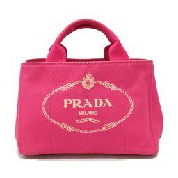 PRADA プラダ カナパ トートバッグ BN2439 FUXIA(ピンク) キャンバス 【中古】【ランクB】 レ