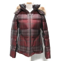 BURBERRY Reversible Down Jacket Red Polyester [Used] [Rank A] Lady