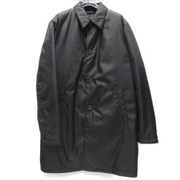 PRADA Prada Filling Stainless Color Coat Black Nylon [Used] [Rank A] Men