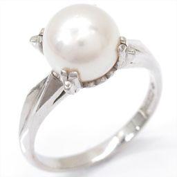 JEWELRY ジュエリー パールリング 指輪 ホワイト PT900 プラチナ xパール 【中古】【ランクA】 レ