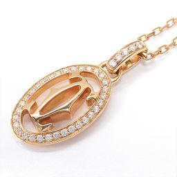 Cartier カルティエ ドゥーブル Cロゴ ネックレス ピンク K18PG(750) ピンクゴールド ×ダイヤ