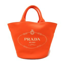PRADA Prada Kanapa 2way Handbag 1BG163 Orange Canvas [Used] [Rank A] Lady