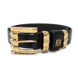 LOEWE Loewe Belt Black Leather [Used] [Rank B] Ladies
