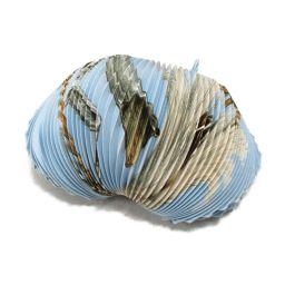 HERMES エルメス プリーツスカーフ ブルー系 シルク 【中古】【ランクB】 レディース