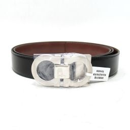 Salvatore Ferragamo Reversible Belt Black x Brown Leather