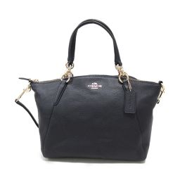 COACH Coach 2way shoulder bag F36675 Navy Leather [Used] [Rank B] Ladies