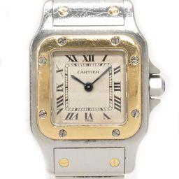 Cartier カルティエ サントス ガルベSM 腕時計 ウォッチ アイボリー ステンレススチール(SS) xK1