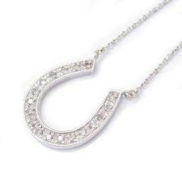 JEWELRY ジュエリー ダイヤモンドネックレス クリアー K18WG(750) ホワイトゴールド xダイヤモン