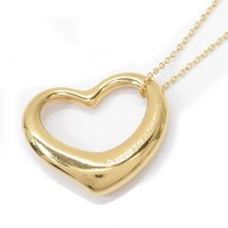 TIFFANY & CO Tiffany Open Heart Necklace Gold K18YG (750) Yellow Gold 【