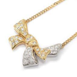 JEWELRY ジュエリー ダイヤモンドネックレス クリアー K18YG(750) イエローゴールド xPT900