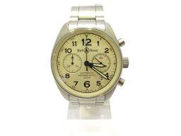Bell & Ross ベル&ロス ヴィンテージクロノ ウォッチ 腕時計 126.A シルバー ステンレススチール