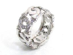Cartier カルティエ アントルラセダイヤモンド リング 指輪 シルバー K18WG(750) ホワイトゴール