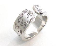 Cartier カルティエ C2 ダイヤモンドリング 指輪 2000クリスマス限定 シルバー K18WG(750)