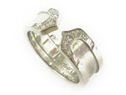 Cartier カルティエ C2 ダイヤリング 指輪 シルバー K18WG(750) ホワイトゴールド ダイヤモン