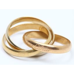 Cartier カルティエ トリニティリング 指輪 ゴールド K18YG(750) イエローゴールド  x K18