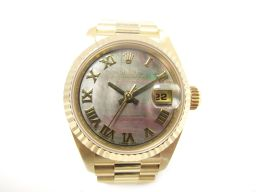 ROLEX ロレックス デイトジャスト 腕時計 ウオッチ 69178NR ブラックシェル K18YG(750)イエ