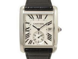 Cartier カルティエ タンクMC 腕時計 ウォッチ W5330003 ホワイト ステンレススチール(SS)