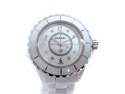 CHANEL シャネル J12 8Pダイヤ 腕時計 ウォッチ レディース H2422 ホワイト ステンレススチール