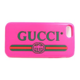 GUCCI グッチ iphoneケース 7.8 499320 ピンク ラバー 【中古】【ランクB】 レディース