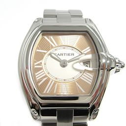 Cartier カルティエ ロードスターSM 2007年限定 腕時計 ウォッチ W62054V3 ピンク ステンレ