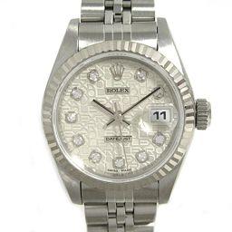 ROLEX ロレックス デイトジャスト 10Pダイヤモンド レディース ウォッチ 腕時計  69174G シルバー