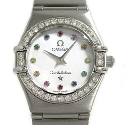 OMEGA オメガ コンステレーション アイリス ダイヤベゼル ウオッチ 時計 1476.79 シルバー ステンレ