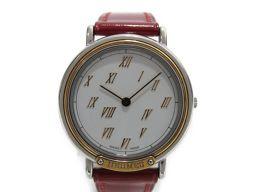 HERMES エルメス メテオール 腕時計 レディース ウォッチ シルバー ステンレススチール(SS) ×レザー