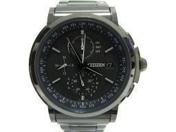 CITIZEN シチズン シリーズエイト 腕時計 ウォッチ メンズ AT8084-51E ブラック ステンレススチ