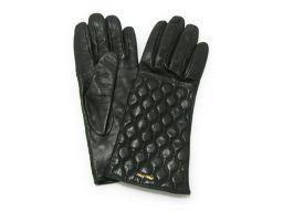 miu miu ミュウミュウ 手袋 グローブ ブラック 羊革(ラム) 【中古】【ランクA】 レディース