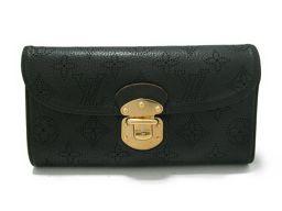 LOUIS VUITTON ルイヴィトン ポルトフォイユ・アメリア 三つ折長財布 M95549 ノワール マヒナ