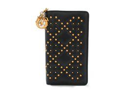 Dior クリスチャン・ディオール ブラックスタッズカナージュ LADY DIOR iPhoneケース(7・8)
