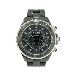 CHANEL シャネル J12 クロノグラフ 9Pダイヤモンド 腕時計 メンズ ウォッチ H2419 ブラック ブ
