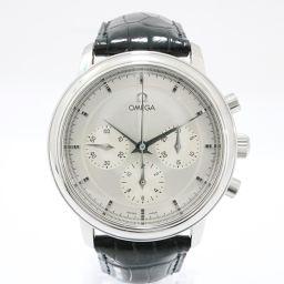 OMEGA オメガ デ・ビル プレステージ 腕時計 4540.31 シルバー ステンレススチール(SS) x レザ