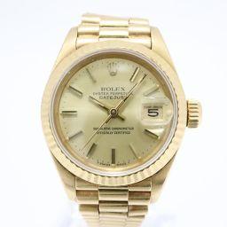 ROLEX ロレックス デイトジャスト 腕時計 69178 シャンパン K18YG(750)イエローゴールド 【中