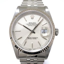 ROLEX Rolex Datejust Watch 16234 Silver K18WG (750) White Gold x