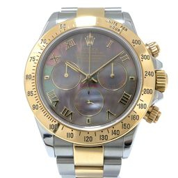 ROLEX Rolex Daytona watch 116523NR Black shell K18YG (750) yellow gold