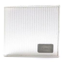 BVLGARI ブルガリ 二つ折財布 28357 シルバー 牛革(カーフ) 【新品同様】 メンズ