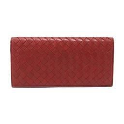 BOTTEGA VENETA Bottega Veneta Intrecciato two-fold billfold red leather [pre] [rank]