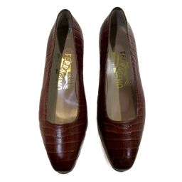 Salvatore Ferragamo Pumps Brown Leather Salvatore Ferragamo [Used] [Rank A