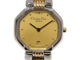 Dior クリスチャン・ディオール オクタゴン 腕時計 ウォッチ ゴールド GP×ステンレススチール(SS) 【中