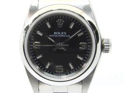 ROLEX ロレックス オイスター パーペチュアル ウォッチ 時計 76080 シルバー ステンレススチール(SS