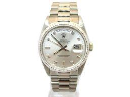 ROLEX ロレックス デイデイト 腕時計 18239A シルバー K18WG(750)ホワイトゴールド ×ステン