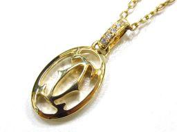 Cartier カルティエ ロゴドゥーブル ネックレス ゴールド K18YG(750) イエローゴールド ×ダイヤ