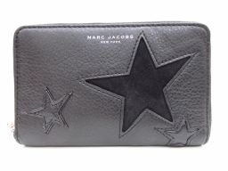 MARC JACOBS マーク・ジェイコブス ラウンド財布 二つ折り財布 ブラック レザー 【中古】【ランクA】