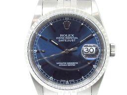 ROLEX ロレックス デイトジャスト 時計 ウォッチ 16220 ブルー ステンレススチール(SS) 【中古】【