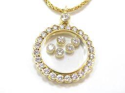 Chopard ショパール ハッピーダイヤモンドネックレス ゴールド K18YG(750) イエローゴールド xダ