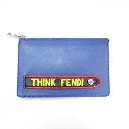 FENDI フェンディ クラッチバッグ 7BA350 ブルー×イエロー×ブラック×レッド 牛革(カーフ) 【新品同