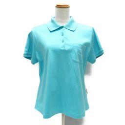 LEONARD SPORT レオナールスポーツ ポロシャツ ブルー コットン 【中古】【ランクB】 レディース